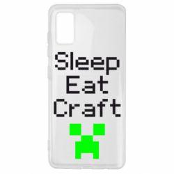 Чохол для Samsung A41 Sleep,eat, craft