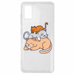 Чехол для Samsung A41 Sleeping cats