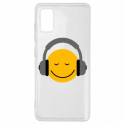 Чехол для Samsung A41 Smile in the headphones