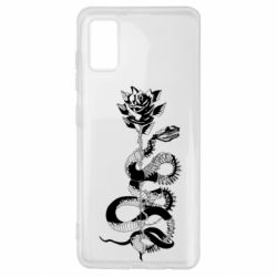 Чохол для Samsung A41 Snake and rose