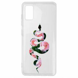Чохол для Samsung A41 Snake and roses