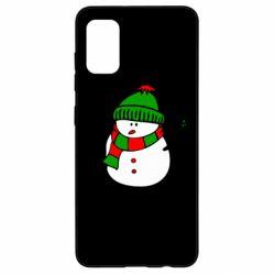 Чехол для Samsung A41 Снеговик