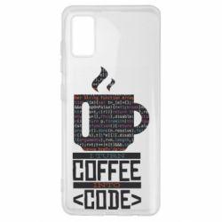 Чохол для Samsung A41 Сoffee code