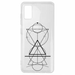Чохол для Samsung A41 Сomposition of geometric shapes