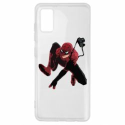 Чехол для Samsung A41 Spiderman flat vector