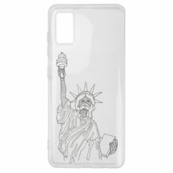 Чохол для Samsung A41 Statue of Liberty with a medical mask