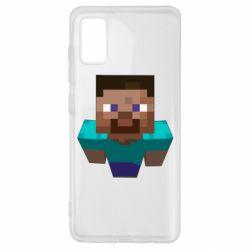 Чехол для Samsung A41 Steve from Minecraft