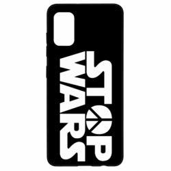 Чехол для Samsung A41 Stop Wars peace