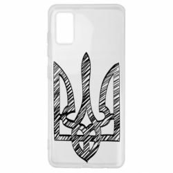 Чехол для Samsung A41 Striped coat of arms