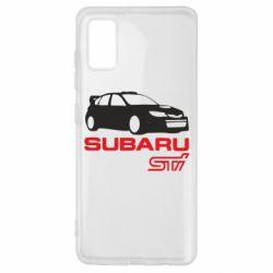 Чехол для Samsung A41 Subaru STI