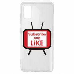 Чохол для Samsung A41 Subscribe and like youtube