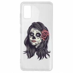 Чохол для Samsung A41 Sugar girl with a rose