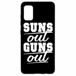 Чехол для Samsung A41 Suns out guns out