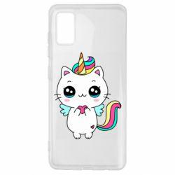 Чохол для Samsung A41 The cat is unicorn