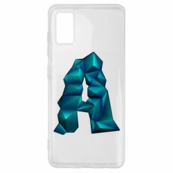 Чехол для Samsung A41 The letter a is cubic