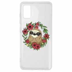 Чехол для Samsung A41 The slothful in flowers