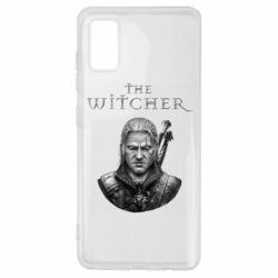Чехол для Samsung A41 The witcher art black and gray