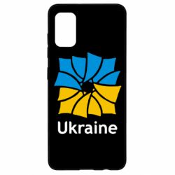Чохол для Samsung A41 Ukraine квадратний прапор