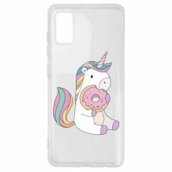 Чехол для Samsung A41 Unicorn and cake