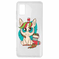 Чехол для Samsung A41 Unicorn Christmas