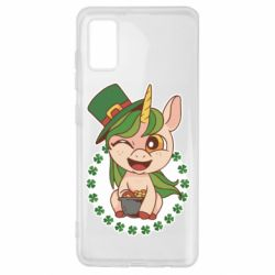 Чехол для Samsung A41 Unicorn patrick day