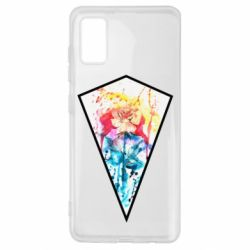 Чехол для Samsung A41 Watercolor flower in a geometric frame
