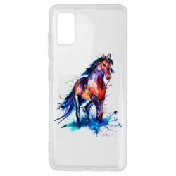 Чехол для Samsung A41 Watercolor horse