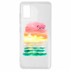 Чехол для Samsung A41 Watercolor pattern with sea