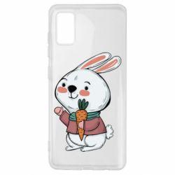 Чохол для Samsung A41 Winter bunny