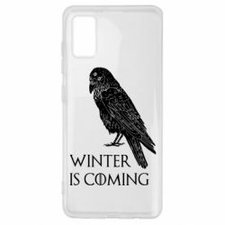 Чохол для Samsung A41 Winter is approaching and crow