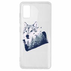 Чехол для Samsung A41 Wolf and forest