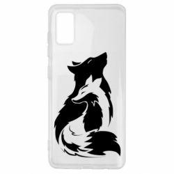Чехол для Samsung A41 Wolf And Fox