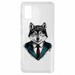 Чехол для Samsung A41 Wolf in costume