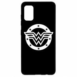 Чохол для Samsung A41 Wonder woman logo and stars