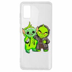 Чехол для Samsung A41 Yoda and Grinch