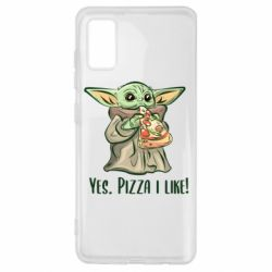 Чехол для Samsung A41 Yoda and pizza