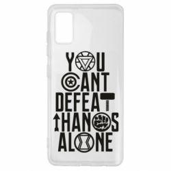 Чехол для Samsung A41 You can't defeat thanos alone