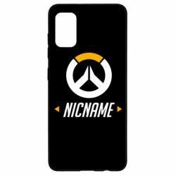 Чехол для Samsung A41 Your Nickname Overwatch