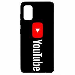 Чехол для Samsung A41 Youtube logotype