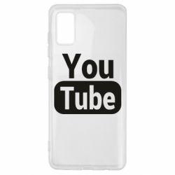 Чохол для Samsung A41 Youtube vertical logo