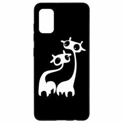Чехол для Samsung A41 Жирафы
