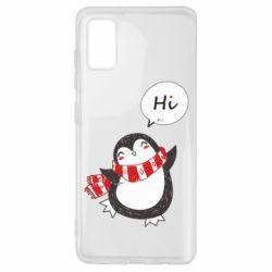 Чохол для Samsung A41 Зимовий пингвинчик