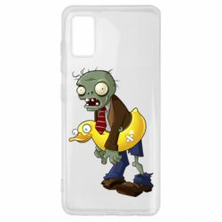 Чехол для Samsung A41 Zombie with a duck