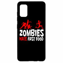 Чохол для Samsung A41 Zombies hate fast food