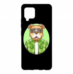 Чохол для Samsung A42 5G A dog with glasses and a shirt