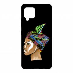 Чохол для Samsung A42 5G African girl in a color scarf
