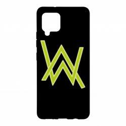 Чехол для Samsung A42 5G Alan Walker neon logo