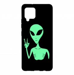 Чохол для Samsung A42 5G Alien and two fingers