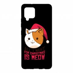Чехол для Samsung A42 5G All i want for christmas is meow