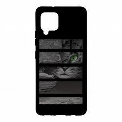 Чехол для Samsung A42 5G All seeing cat